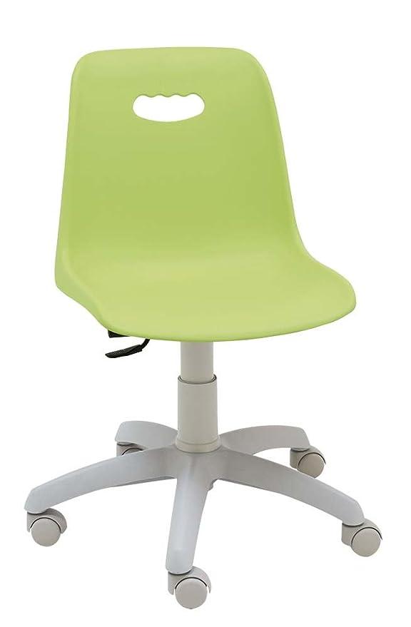 Centrosilla - Silla giratoria Escritorio niños Venezia Gris Color Verde Claro Silla Juvenil con Respaldo Flexible Ideal para Estudio - Carcasa ...
