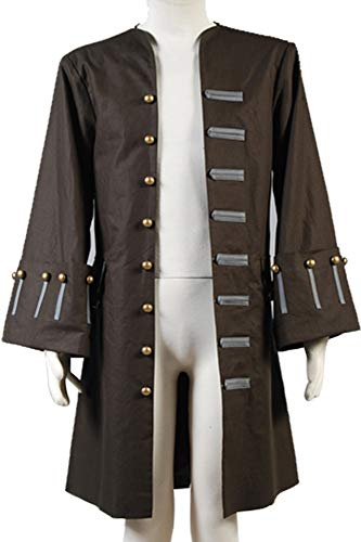 Cosplaysky Halloween Jack Sparrow Costume Pirates of The Caribbean 4 Cosplay Coat XXX-Large by Cosplaysky (Image #3)