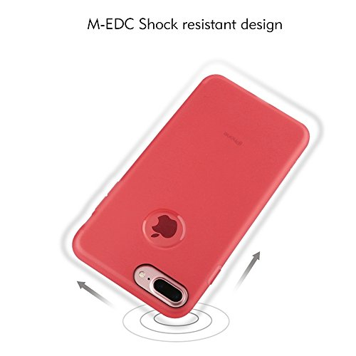 MXNET Iphone 7 Plus Fall, TPU Ultra-dünner Schock-beständiger schützender Fall CASE FÜR IPHONE 7 PLUS ( Color : White )