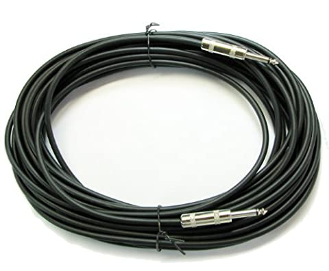 Instrument Acoustic Electric Bass Guitar Keyboard Patch Cable 1/4 Quarter Inch (50ft) (Bass Guitar Instrument)