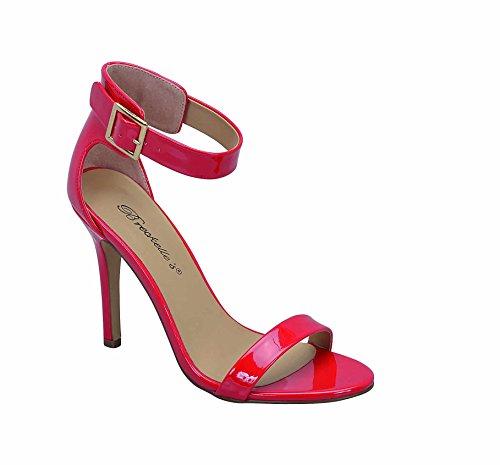 Breckelles Sydney-31 41 D-orsay Sandaler Rød Patent