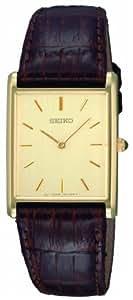 Seiko SFP606P1 - Reloj analógico de caballero de cuarzo con correa de piel marrón - sumergible a 30 metros