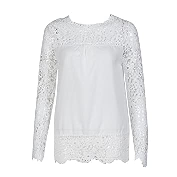 Clearance!HOSOME Women Top Womens Autumn Spring Fashion Womens Long Sleeve Shirt Casual Lace Blouse