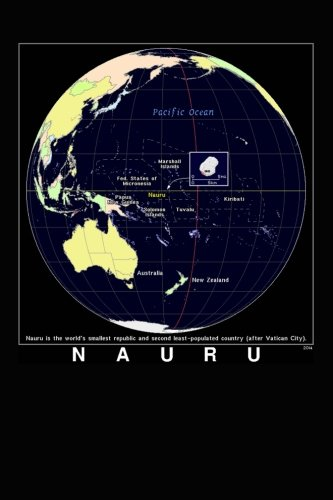 Modern Day Color Map of Nauru Journal: Take Notes, Write Down Memories in this 150 Page Lined Journal