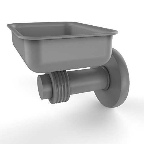 Allied Brass 932G-GYM Mercury Collection Wall Mounted Soap Dish with Groovy ()