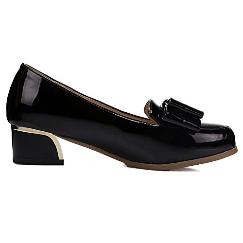 1TO9 Girls Pull-On low-cut tomaia gomma esterna pumps-shoes, Nero (Black), 35