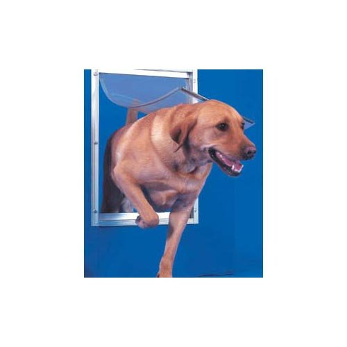 Ideal Pet Products DDXLW 12-5/8'' X 18-13/16'' Extra-Large White Deluxe Pet Door