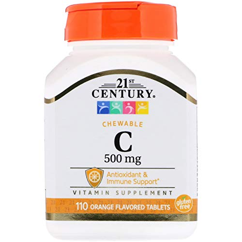 (21st Century, Chewable C, 500 mg, 110 Orange Flavored Tablets)