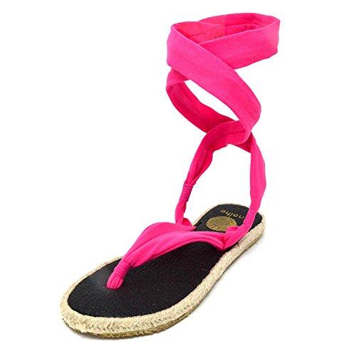 Nalho Kvinnor Yogamatta Espadriller Sandaler, Karabi Rosa