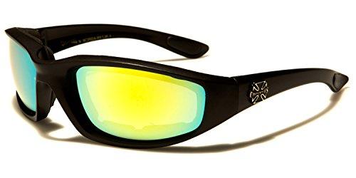 Homme SDK Lunettes SUNGLASSES de soleil Black Mirror unique turquoise Taille Yellow Zqw6q7