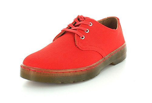 Martens Gizelle rosso Stringate rosso Twill Rosso Scarpe Dr Red Canvas Derby Donna C7d4w4xZ