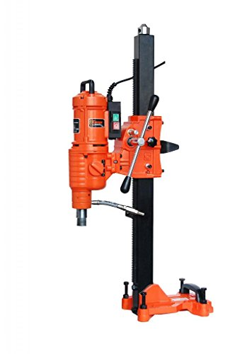 CAYKEN SCY-3550C Industrial Grade Diamond Core Drill Machine with Stand and 2-Speed Gear Shift, 14 Inch