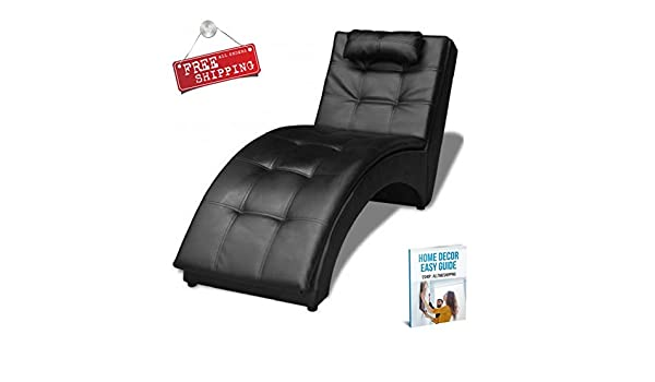 Amazon Indoor Chaise Lounge Chair Black Furniture Modern