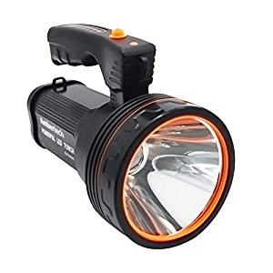 Ambertech 7000 Lumens Super Bright Rechargeable LED Torch with Sharp Edges to Prevent Insects Unisex-Youth, Black, 1