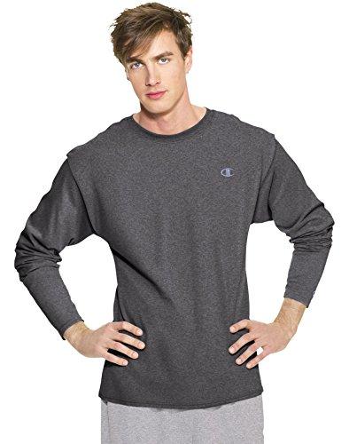 Champion Men's Long Sleeve T-Shirt, Granite Heather, XX-Large