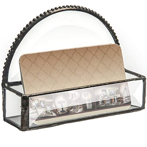 J Devlin CRD 101 Business Card holder Beveled Glass Professional Card Holder for Office Desk