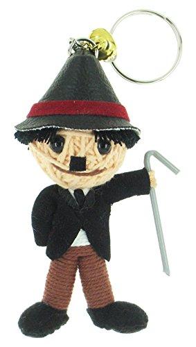 Charlie Chaplin Voodoo String Doll Keyring Keychain