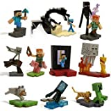 Minecraft Official Craftables Series 1 Figure Set of All 10 Scenes with The Blocks and Chase Piece...
