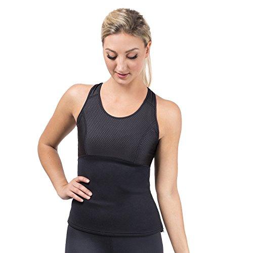 Cheap Nonzero Gravity NZG Women's Tank Top Body Shaper, Slimming Sweat Vest, Neoprene Fat Burning Shirt for Stomach & Waist Trimming (Black, X-Large)
