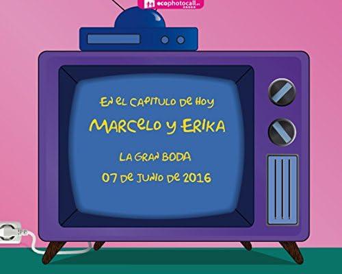 PHOTOCALL TV NUEVO CAPÍTULO LOS SIMPSONS PARA BODAS Y FIESTAS: Amazon.es: Hogar