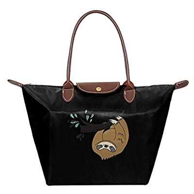 Fanboupout Sloth Huging Tree Large Tote Bags Multifunction Waterproof Shoulder Handbags With Zipper delicate