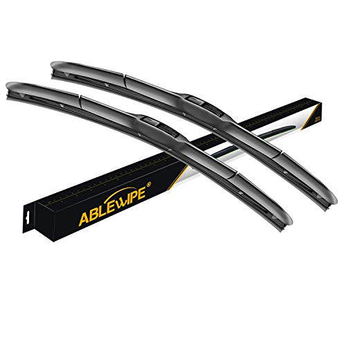 "ABLEWIPE Hybrid 19"" + 19"" Windshield Wiper Blades Model 18O13B-1 (Set of 2)"
