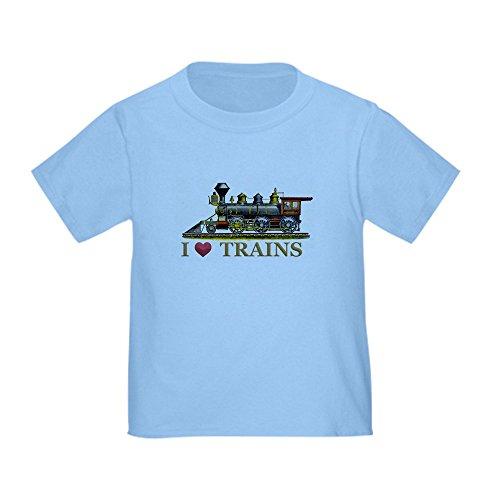 CafePress Love Trains - Cute Toddler T-Shirt, 100% (Amtrak Train Engineer)
