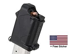 MagLula UpLula Universal Pistol Magazine Speed Loader Loads All Handgun Mags 9mm, 10mm, 357SIG, 40S&W, 45ACP + FREE US Flag Sticker