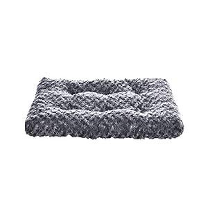 AmazonBasics Pet Dog Bed Pad – 23 x 18 x 2.5 Inch, Grey Swirl