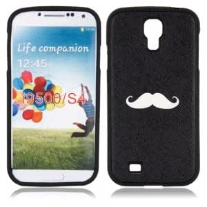 Plastic Protective Case with Black and White Beard Pattern for Samsung i9500