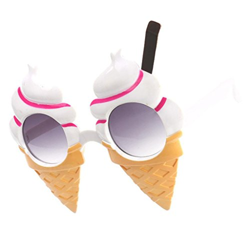 Baoblaze Funny Party Sunglasses Ice Cream Cone Shaped Eye Glasses Costume Photo Props (Glass Cone Shaped)