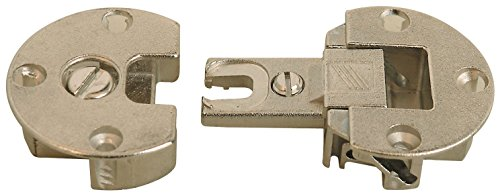 Nickel - Fully Adjustable Concealed Fall Flap Hinges