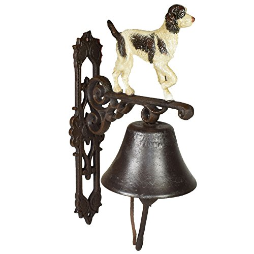 AB Tools Springer Spaniel Dog Bell Cast Iron Sign Plaque Door Wall Fence Gate Post House