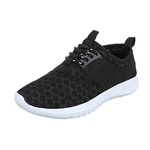 Ital-Design - Zapatillas de Material Sintético para mujer Schwarz QH-7