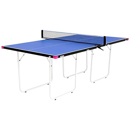 Butterfly Junior ¾ Size Table Tennis Table - 3 Year Warranty – Foldable with Wheels – Fully Assembled – Miniature Ping Pong Table