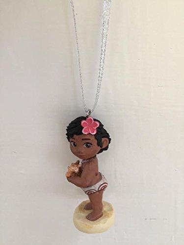 Disney Moana Young Toddler Baby Moana Holiday Christmas Tree Ornament PVC Figure 2.2'' Figurine