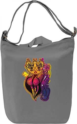 Splashy Creature Borsa Giornaliera Canvas Canvas Day Bag| 100% Premium Cotton Canvas| DTG Printing|
