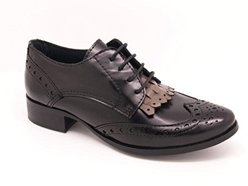 Negro Zapatos cordones para negro mujer Felmini de SwqZ4