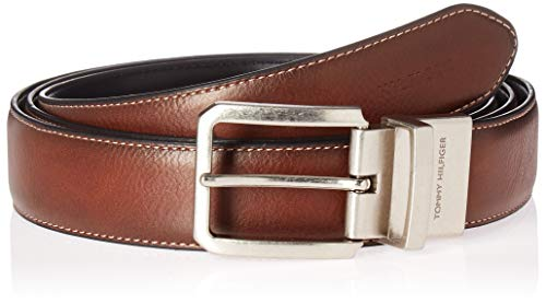 - Tommy Hilfiger Men's Casual Reversible Belt, Tan/Black Stitch, 38