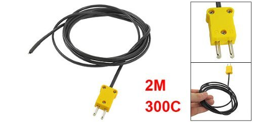 DealMux a13041900ux0043 300 Celsius K Temperatura Tipo Cable Sensor Termopar Probe 2M: Amazon.com: Industrial & Scientific