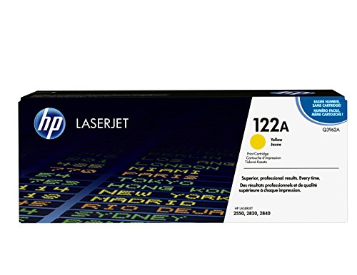 HP 122A (Q3962A) Yellow Original LaserJet Toner Cartridge DISCONTINUED BY MANUFACTURER (Hp Laserjet Printer 4000)