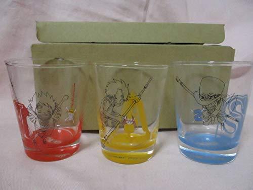 ● ワンピース 兄弟の絆 3個 グラスセット ONE PIECE ルフィ エース サボ 日本製 ●