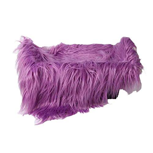Voberry Baby Photo Props Newborn DIY Photography Soft Fur Quilt Photographic Mat (Purple) -