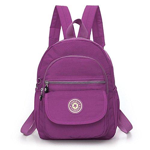 eight Backpack Mini Nylon Daypack Girls Travel Outdoor Bag (Lavender) ()