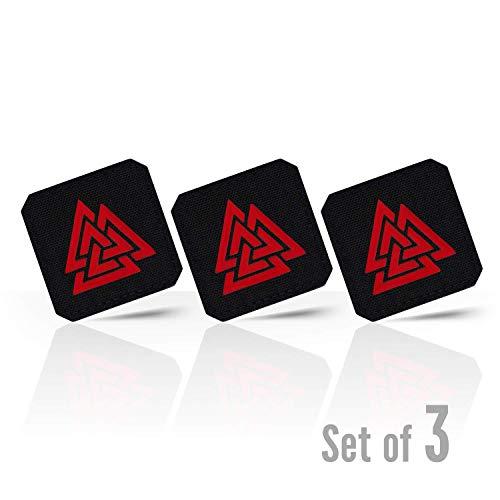 (M-Tac Valknut Morale Patches Military Tactical Lazer Cut Viking Norse (Black - Red 3)