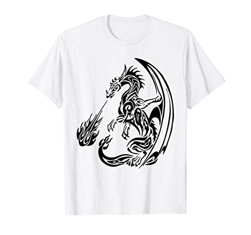 Dragon T-shirt Fire Breathing (The Great Fire Breathing Dragon T-Shirt)