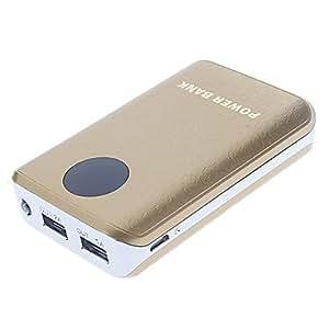 7800Mah Metal Talla Patrón Polymeride Banco Smart Power Para Teléfonos Celulares Y Pads (Oro) prodotto dalla gen¨¦rico