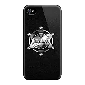 New Karencases Super Strong Sheriff Badge Tpu Case Cover For Iphone 4/4s