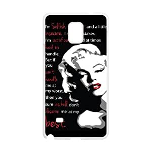 DIY Marilyn Monroe Quote Cover Case for SamSung Galaxy note4, DIY Marilyn Monroe Quote Note4 Phone Case, DIY Marilyn Monroe Quote Galaxy note4 Cell Phone Case