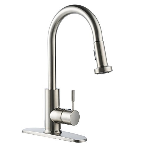 BOHARERS Single Handle Out Down Kitchen Sink Faucet Pull Down Kitchen Faucets Brushed Nickel